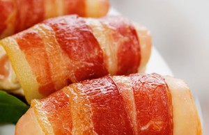 chicken in bacon